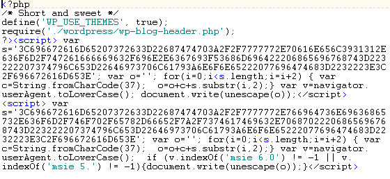 Malicious php code